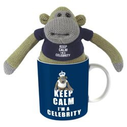 Monkey I'm a Celebrity Mug with Plush
