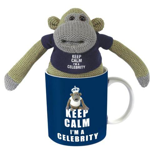 Monkey I'm a Celebrity Mug with Plush