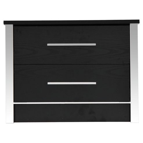 Quattro Bedside Table, Black