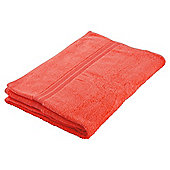Tesco Hand Towel Coral