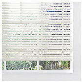 Wood Venetian Blind Cream 105cm 50mm slats Drop 152cm