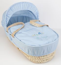 Clair de lune My Toys Moses Basket - Blue