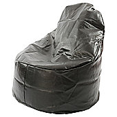 Kaikoo Faux Leather Ezee Chair, Black