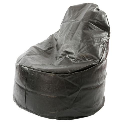 Kaikoo Ezee Faux Leather Bean Bag Chair, Black