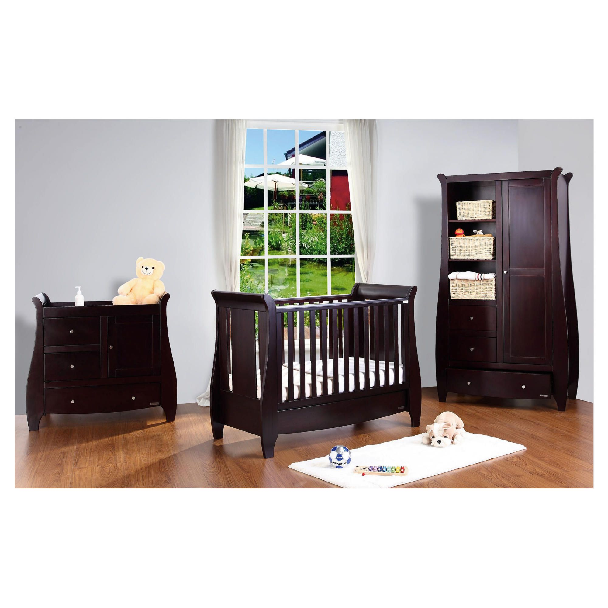 Tutti Bambini Katie 3 Piece Room Set, Espresso With Free Home Assembly at Tesco Direct