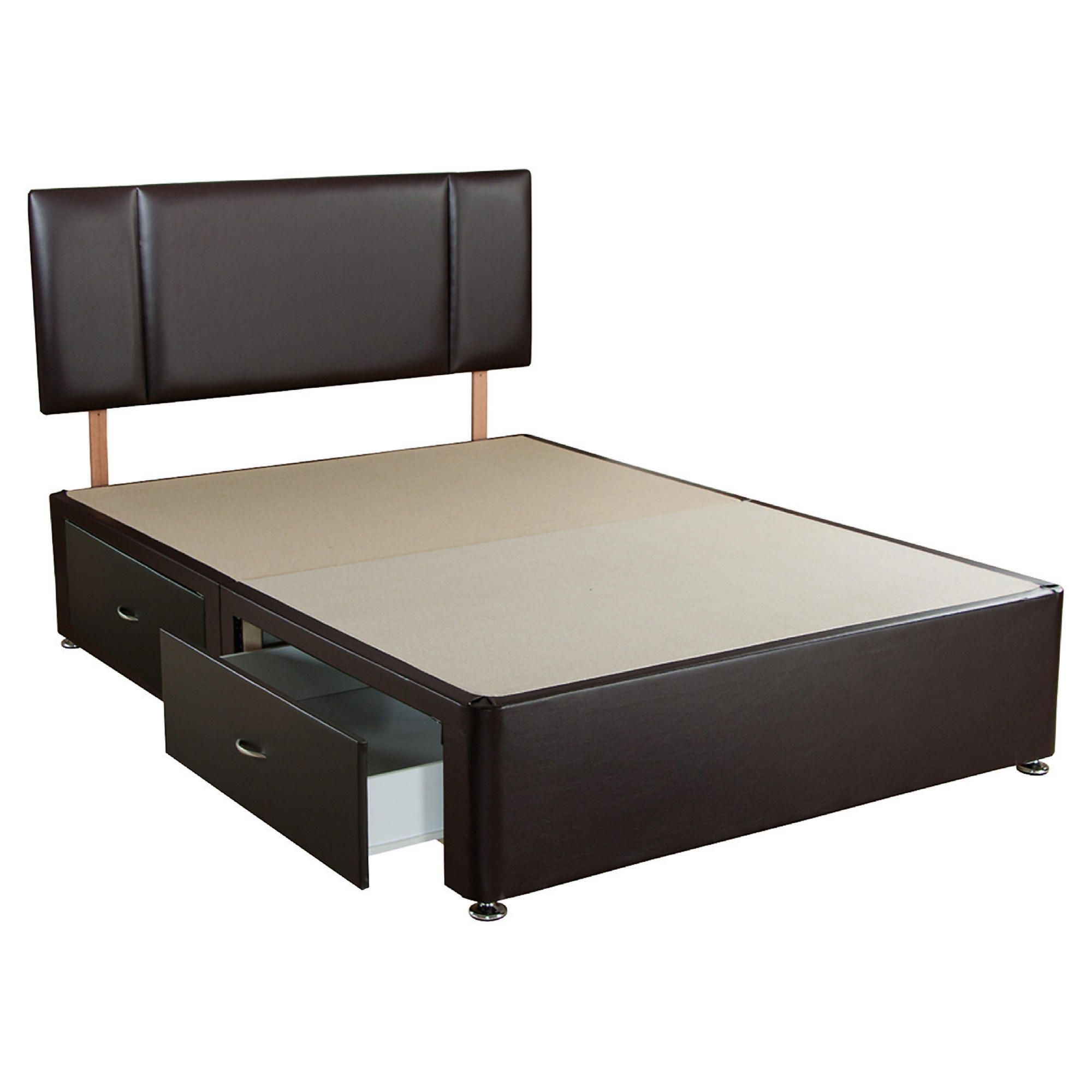 Home and garden furniture airsprung mercury trizone for Double divan bed with four drawers