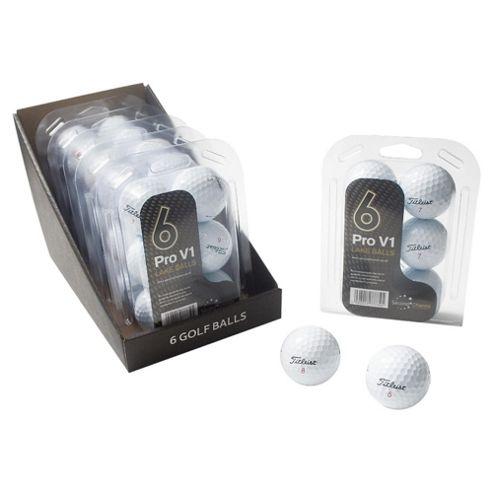 6 Pack Pro V1 Lake Golf Balls