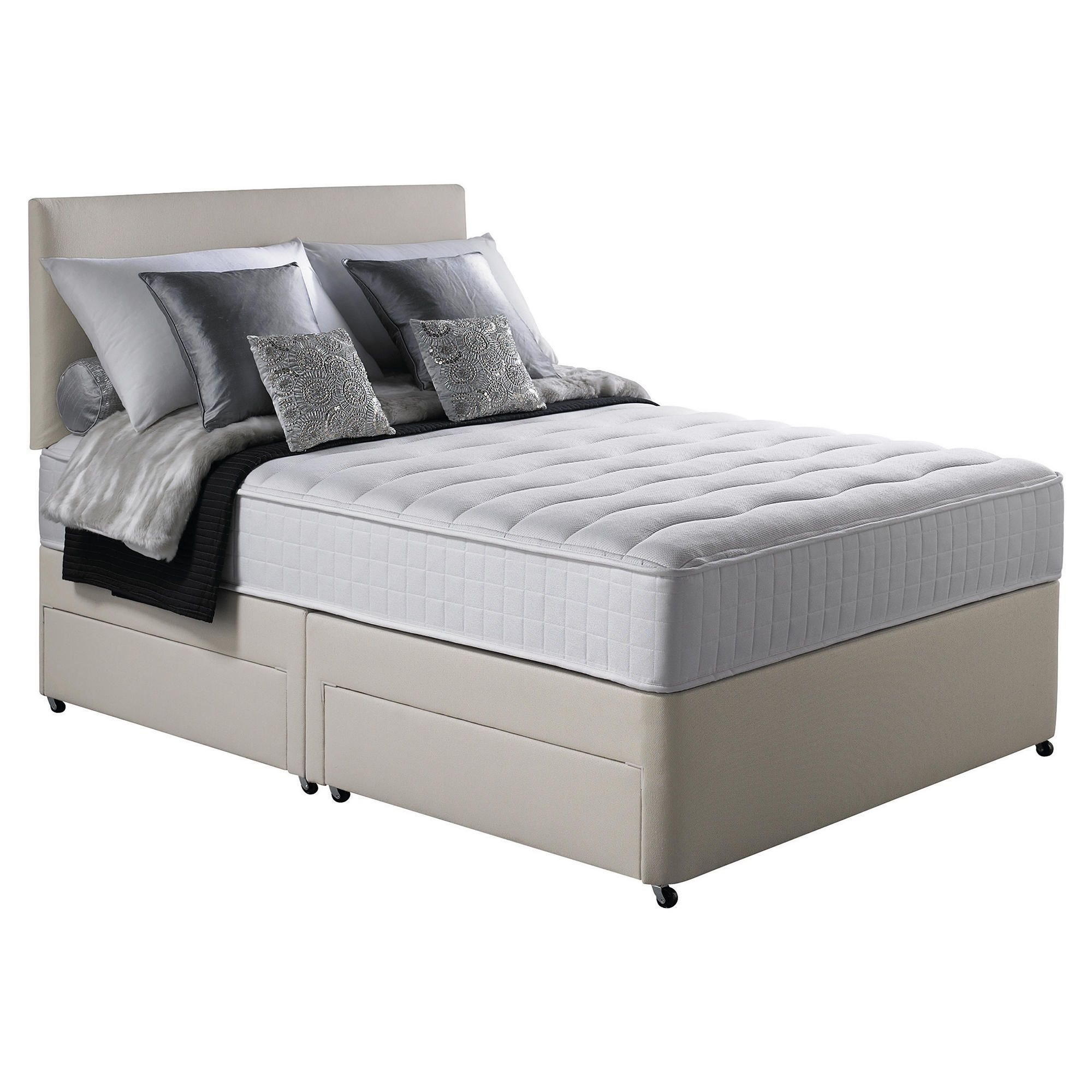 Silentnight Pocket Essentials Memory Foam King Non Storage Divan Bed. at Tesco Direct
