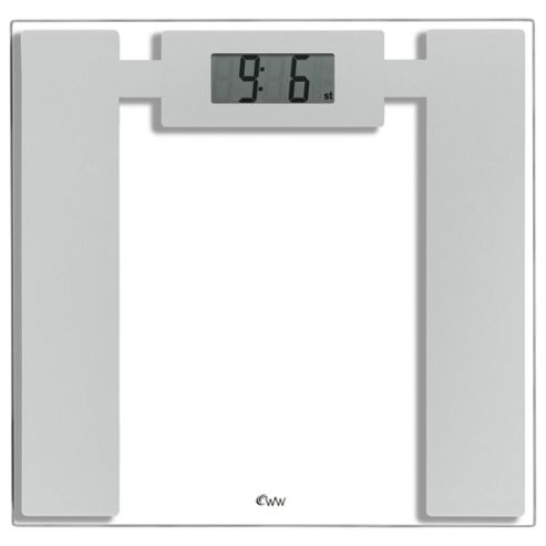 Weight Watchers Glass Precision Electronic Bathroom Scale