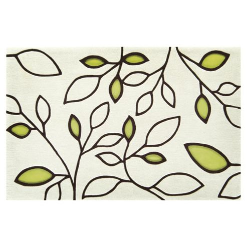 Tesco Rugs Laya Leaf Rug Green 160X230Cm