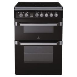 Indesit ID60C2K Black  Ceramic DBL Oven Electric Cooker