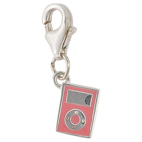 Sterling Silver and Enamel MP3 Player Charm