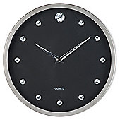 F&F Home Diamante clock black