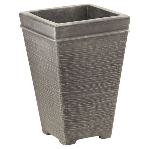 Terraneuva Tall Square Planter Silver