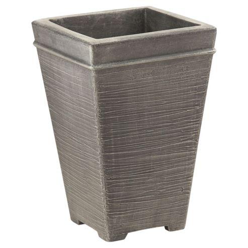 Terraneuva Tall Square Planter Silver