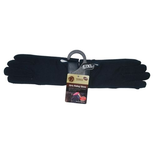 Tesco Girls Navy Riding Glove L/XL