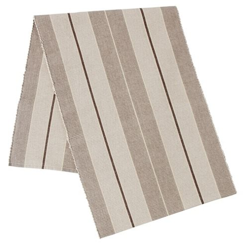 Tesco Ribbed Taupe Stripe Runner, Large