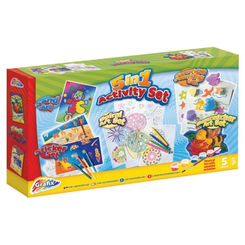 Grafix 5 in 1 Craft Activity Set