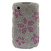 Bliss Hard Case BlackBerry 8520/9300 Pink and Silver Flowers