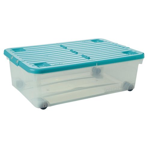 Wham 32L box with wheels, teal