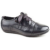 Hush Puppies Girls Markley Black Lace-up Brogue Shoes - Black