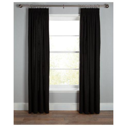 Plain Canvas Pencil Pleat Curtains W112xL137cm (44x54