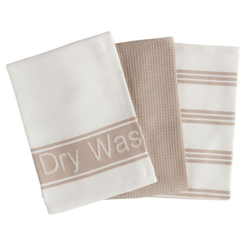 Tesco Pure Tea Towels 3 Pack