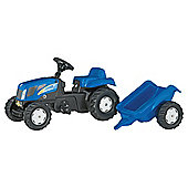 Rolly Kid New Holland TVT190 Pedal Tractor & Trailer Ride-On