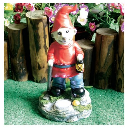 Solar Meerkat Gnome with Lamp
