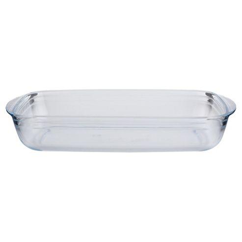 Tesco 39x23cm Rectangular Glass Roasting Dish