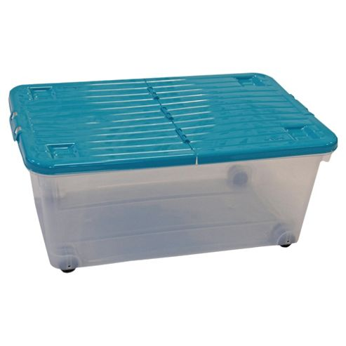 Wham 45L Box With Wheels, Teal