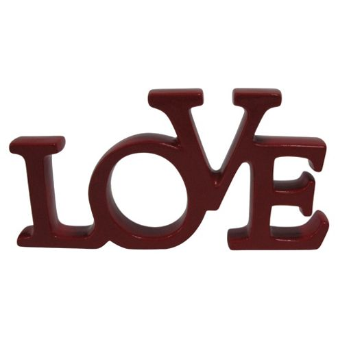 F&F Home Ceramic letters red LOVE