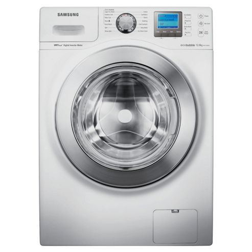 Samsung WF1124XAC/XEU Eco Bubble Washing Machine, 12kg Wash Load, 1400 RPM Spin, A Energy Rating. White