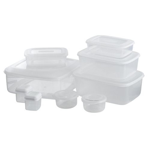 Tesco Value Food Containers, Set of 9