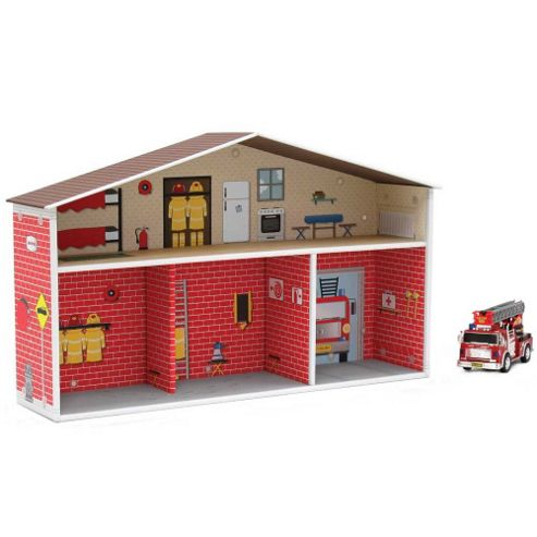 Krooom Fire Station with Figurines