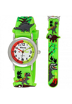 Boys Green Dinosaur Time Teacher Watch