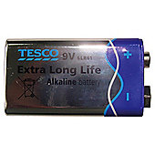 Tesco Long Life Alkaline 2 pack 9V Batteries