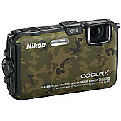 Nikon Coolpix AW100 Digital Camera Camo