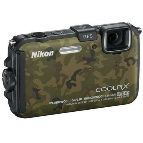 Nikon Coolpix AW100 Digital Camera Camo 16MP 5x Optical Zoom 3.0