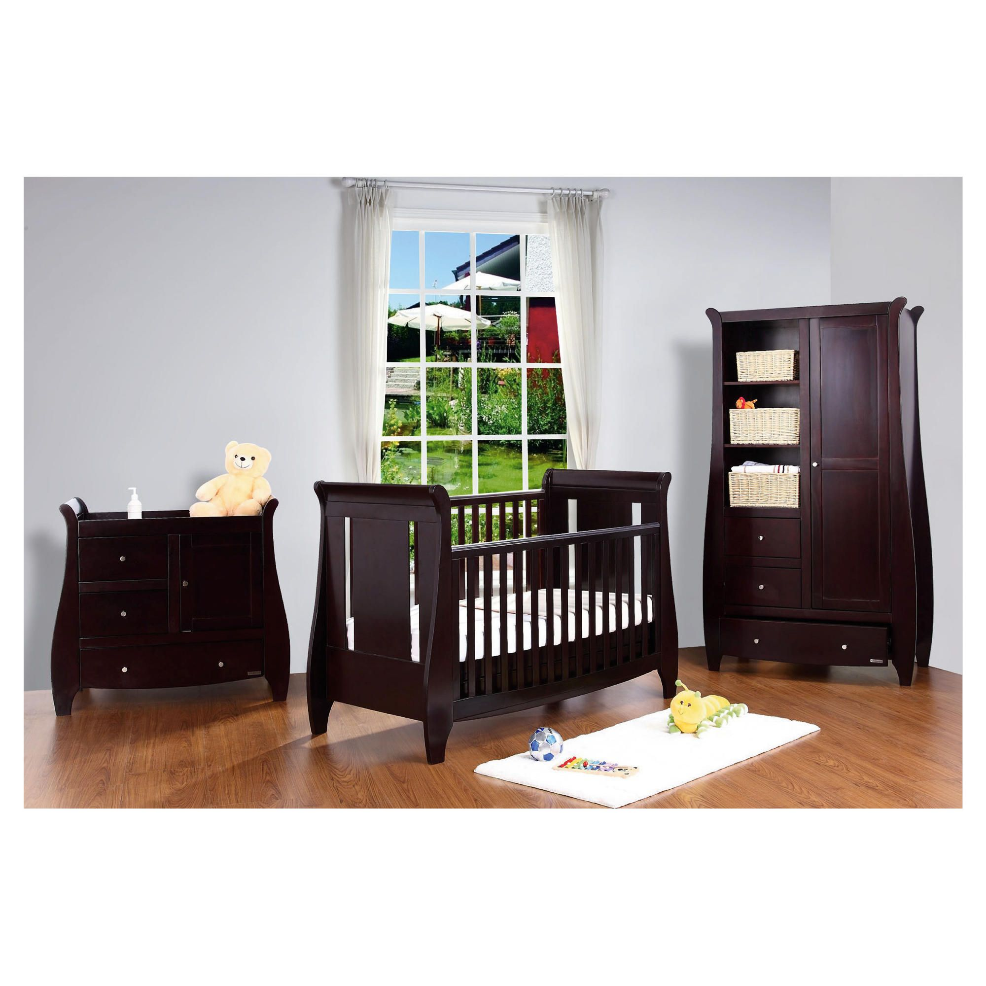 Tutti Bambini Lucas 3 Piece Room Set, Espresso with FREE Home Assembly at Tesco Direct