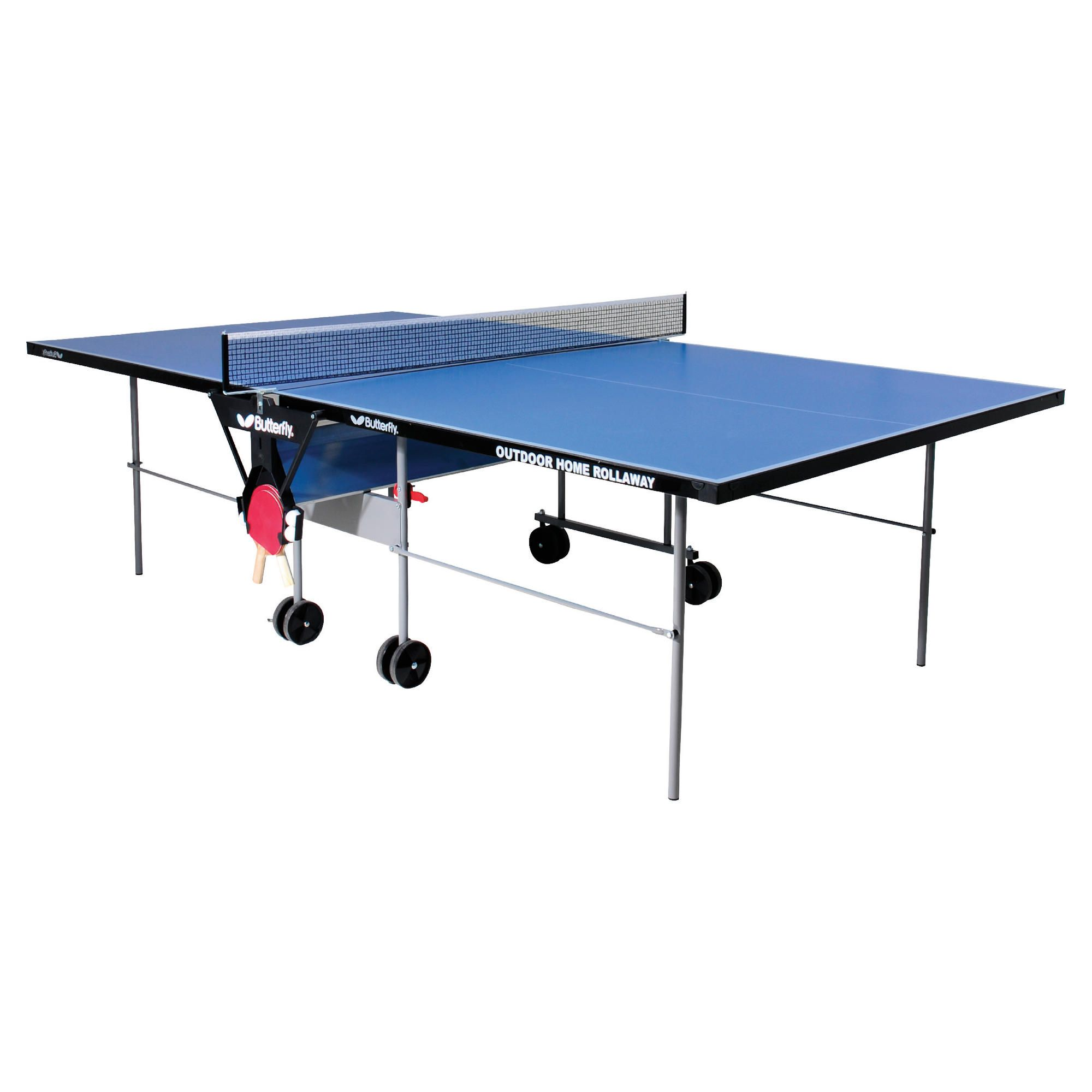 Butterfly Home Rollaway Table Tennis Table - Blue at Tesco Direct