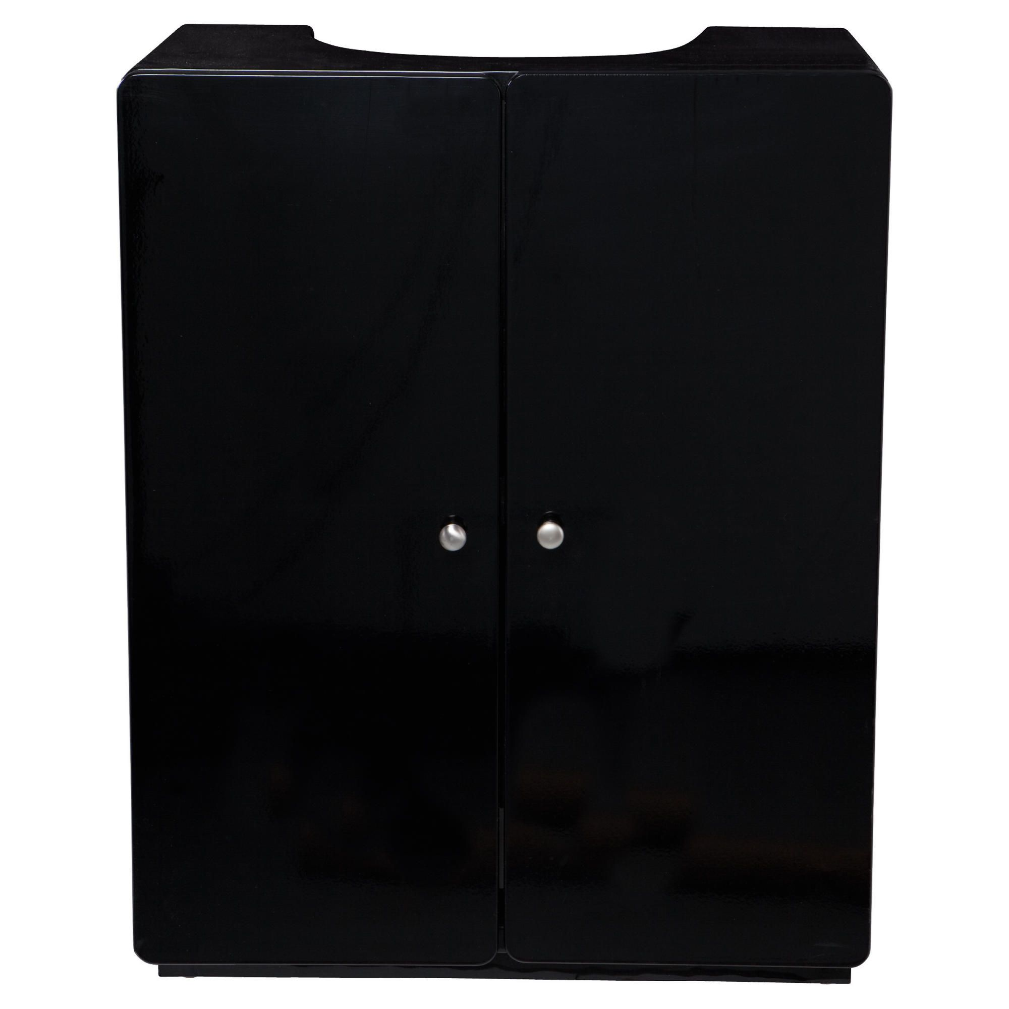 Stockholm Black Gloss Under sink cupboard