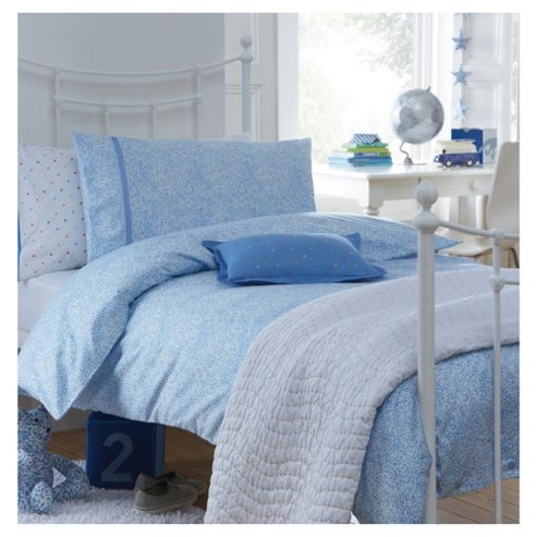 Little Boutique Hundreds And Thousands Double Duvet Cover Set Blue