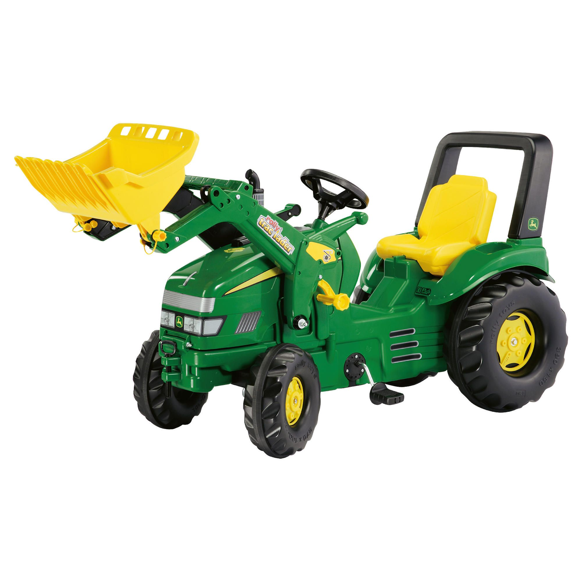 John Deere X-Trac Ride-On Tractor & Rolly Trac Loader at Tesco Direct