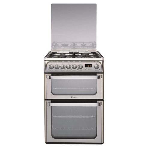 Hotpoint hug61x stainless steel Double oven gas cooker