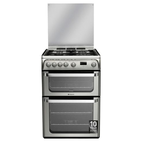 Hotpoint Ultima Gas Cooker, HUG61X, Stainless Steel