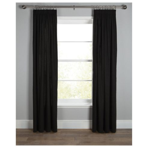 Tesco Plain canvas Lined pencil pleat Curtains W229xL183cm (90x72