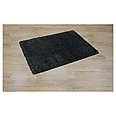 Tesco Rugs Extra Thick Shaggy Rug Dark Tweed 80x150cm