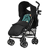 Obaby Atlas Lite Stroller with Footmuff-Turquoise Stripe