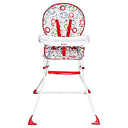 Red Kite Feed Me Compact Highchair, Cotton Tail